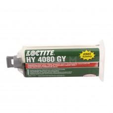 Вибростойкий ударнопрочный клей (требуется дозатор и пистолет), серый, LOCTITE HY 4080 GY, 50г