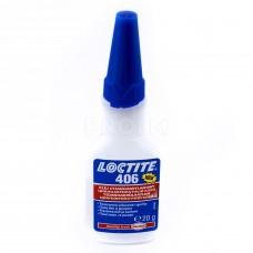 Клей цианоакрилатный для эластомеров и резины, LOCTITE 406, 20г