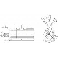 Серводвигатель, SMH40S-0010-30ABK-4LKH