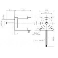 Шаговый двигатель FL42STH47-1684A-5