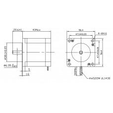 Шаговый двигатель FL57STH41-1006A-6,35
