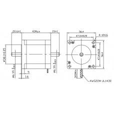 Шаговый двигатель FL57STH41-2804B-6,35
