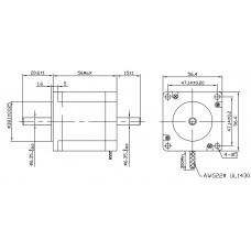 Шаговый двигатель FL57STH56-1006B-6,35
