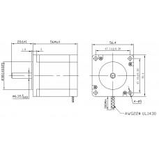 Шаговый двигатель FL57STH56-2804MA-6,35