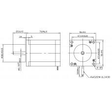 Шаговый двигатель FL57STH76-2804MA-6,35