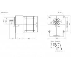 Шаговый двигатель FL86STH65-2808AG5