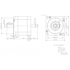 Шаговый двигатель FL86STH80-4208B-14-12,7