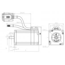 Шаговый двигатель с обратной связью CS-M22323