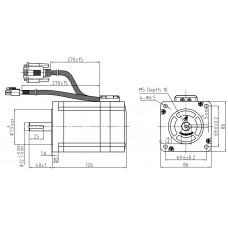 Шаговый двигатель с обратной связью CS-M23480-S